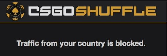 CSGOShuffle Blocked in UK & USA