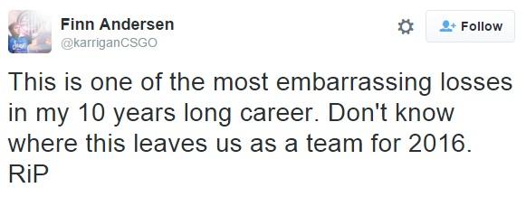 Karrigan Tweet